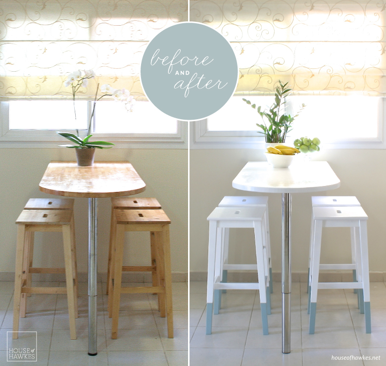 Diy mini kitchen make over house of hawkes Breakfast nook bar ideas