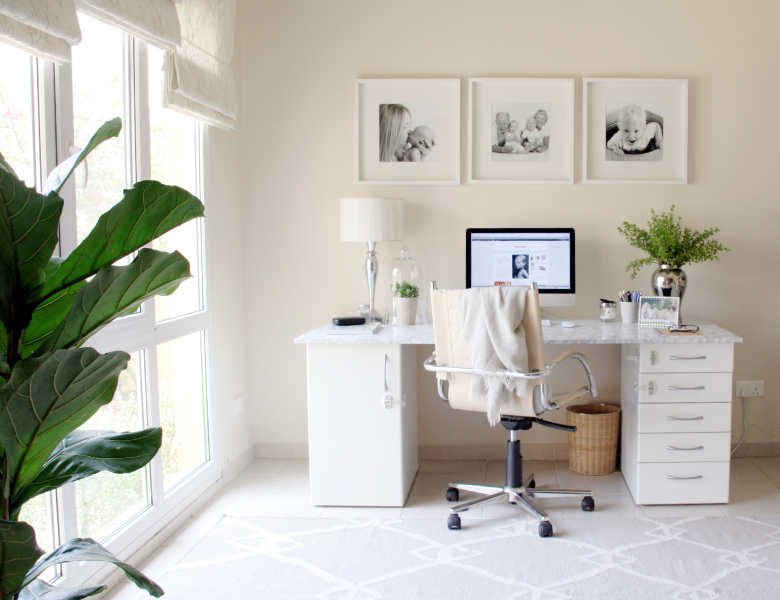 DIY faux marble desktop
