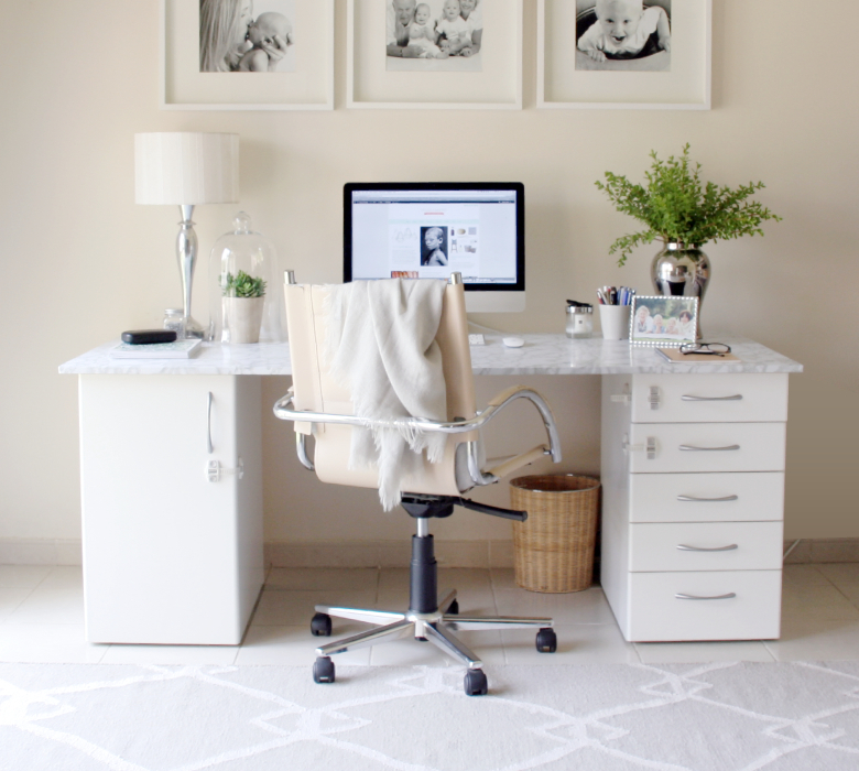 Beautiful DIY Marble Desk 4A