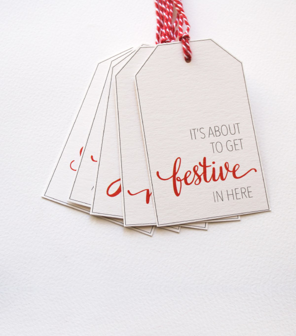 free printable christmas holiday gift tags
